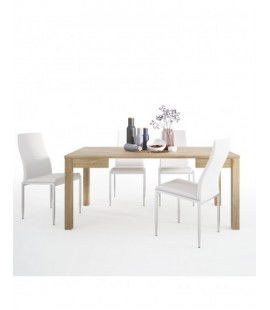 Dining set package Shetland Extending Dining Table + 4 Milan High Back Chair White. (4197661/5010101)
