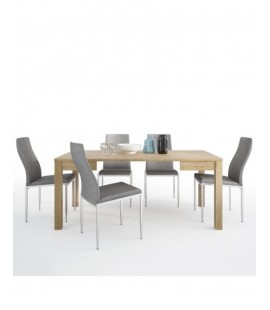 Dining set package Shetland Extending Dining Table + 4 Milan High Back Chair Grey. (4197661/5010153)