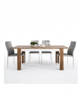 Dining set package Toledo extending dining table + 4 Milan High Back Chair Grey. (4287544/5010153)