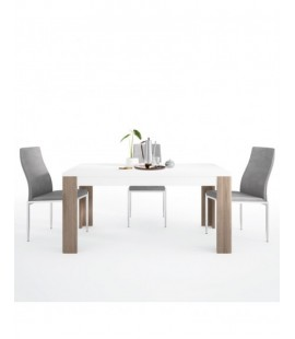 Dining set package Toronto 160 cm Dining Table + 4 Milan High Back Chair Grey. (4204244/5010153)