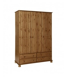 Copenhagen 3 Door 4 Drawer Robe Pine (3023021034325F)