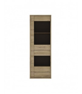 Shetland 1 Door 1 Drawer Narrow Glazed display cabinet (1)