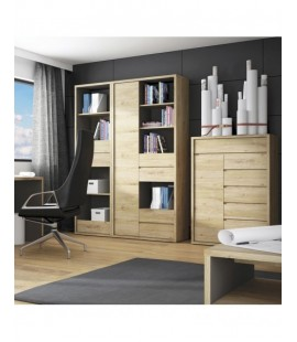 Shetland Tall wide 1 door 4 drawer bookcase (12)