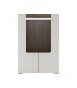 Toronto Low Glazed 2 Door Display cabinet with internal shelves (inc Plexi Lighting) (TOV 01)