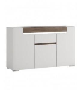 Toronto 3 Door 1 Drawer Sideboard (inc Plexi Lighting) (TOK 10)