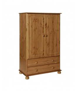 Copenhagen 2 Door 2 Drawer Combi Robe Pine (3022220034325F)