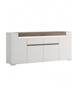 Toronto Wide 4 Door 2 Drawer Sideboard (inc Plexi Lighting) (TOK 05)