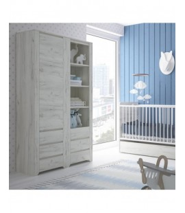 Angel Tall Narrow 3 Drawer Bookcase (11)