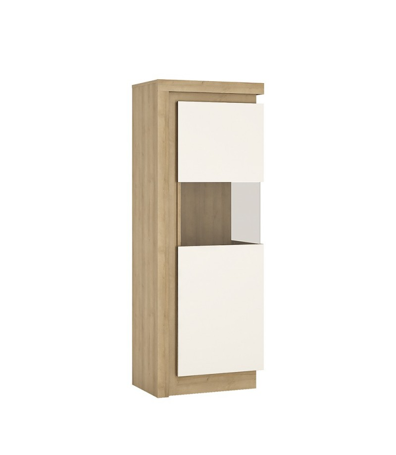 Lyon Narrow display cabinet (RHD) 164.1cm high (including LED lighting) (LYOV01 P)
