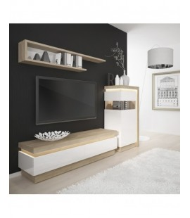 Lyon Narrow display cabinet (LHD) 123.6cm high (including LED lighting) (LYOV02 L)