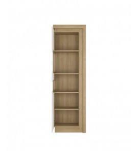 Lyon Tall narrow display cabinet (LHD) (including LED lighting) (LYOV03 L)