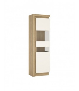 Lyon Tall narrow display cabinet (RHD) (including LED lighting) (LYOV03 P)