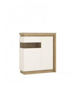 Lyon 2 door designer cabinet (LH) (including LED lighting) (LYOV04 L)