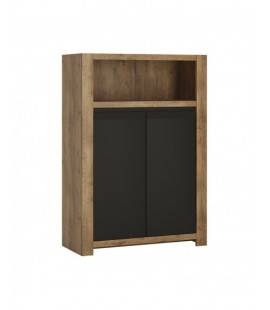 Havana 2 door cupboard with open shelf (HAVK01)