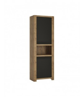 Havana 2 door tall cupboard with open shelf (HAVS01)