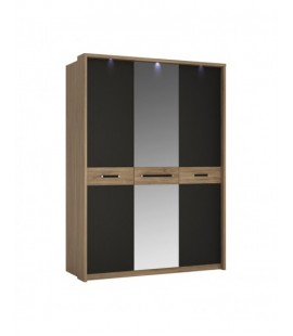 Monaco 3 door wardrobe with mirror door (MOAS01)