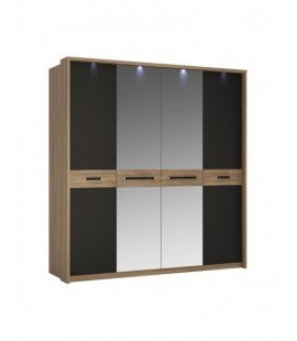 Monaco 4 door wardrobe with mirror doors (MOAS02)