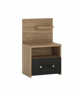Monaco 1 drawer bedside with open shelf (RH) (MOAK02P)