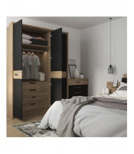 Monaco 1 drawer bedside with open shelf (LH) (MOAK02L)