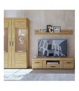 Cortina Tall wide 2 door glazed display cabinet (CNAV03)