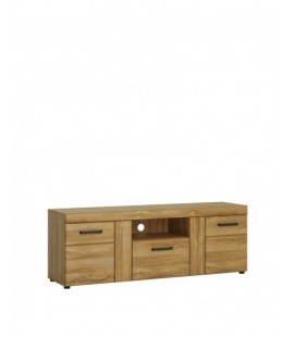 Cortina 2 door 1 drawer tall TV cabinet (CNAF03)
