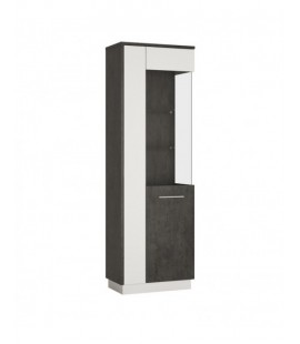 Zingaro Tall Glazed display cabinet (RH) (ZINV02 P)