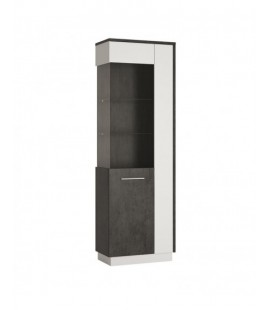 Zingaro Tall Glazed display cabinet (LH) (ZINV02 L)