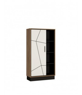 Brolo Wide 1 door bookcase (BROR01)