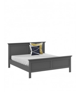 Paris King Bed (160 x 200) in Matt Grey (76715igig)