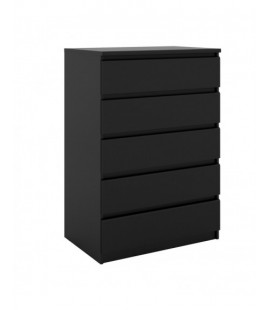 Naia Chest of 5 Drawers in Black Matt (71071gm)