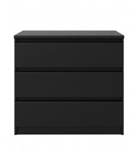 Naia Chest of 3 Drawers in Black Matt (71076gm)