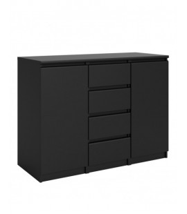 Naia Sideboard - 4 Drawers 2 Doors in Black Matt (71077gm)