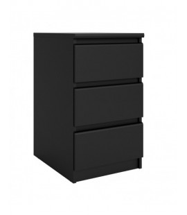 Naia Bedside - 3 Drawers in Black Matt (71078gm)