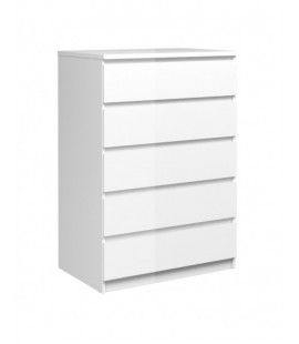 Naia Chest of 5 Drawers in White High Gloss (76231uu)