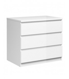Naia Chest of 3 Drawers in White High Gloss (76235uu)