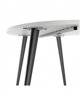 Oslo Dining Table - Large (160cm) in White and Black Matt (753974960)