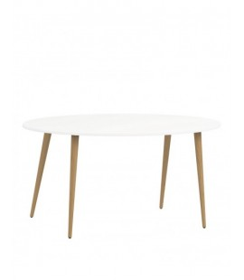 Oslo Dining Table - Large (160cm) in White and Oak (753974949)