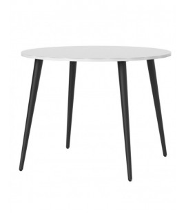 Oslo Dining Table - Small (100cm) in White and Black Matt (753864960)