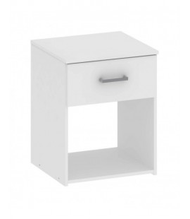 Space Bedside 1 Drawer in White (704234949)
