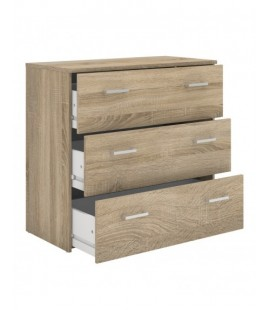 Space Chest of 3 Drawers in Oak (70421akak)