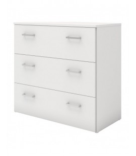 Space Chest of 3 Drawers in White (704214949)