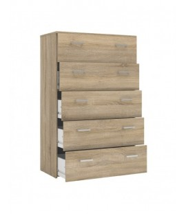 Space Chest of 5 Drawers in Oak (70422akak)