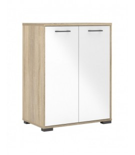 Homeline Sideboard 2 Doors in Oak with White High Gloss (79940akuu)