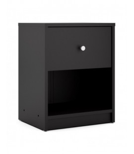 May Bedside 1 Drawer in Black (7033186)