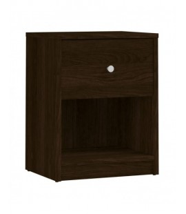 May Bedside 1 Drawer in Dark Walnut (7033120)