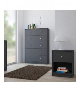 May Bedside 1 Drawer in Grey (70331cn)