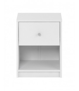 May Bedside 1 Drawer in White (7033149)