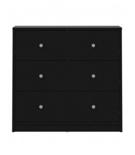 May Chest of 3 Drawers in Black (7033286)