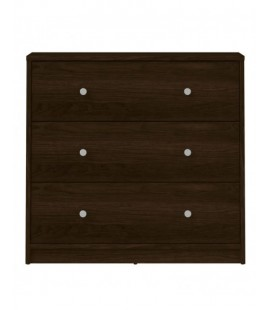 May Chest of 3 Drawers in Dark Walnut (7033220)