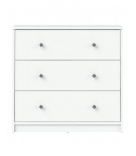 May Chest of 3 Drawers in White (7033249)